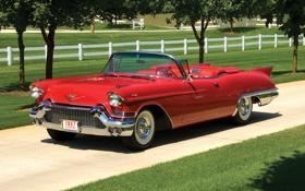 Обои Cadillac, Biarritz, Eldorado, 1957, красный