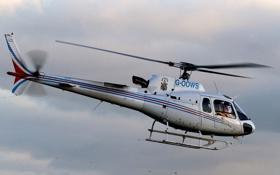 Картинка небо, облака, вертолёт, многоцелевой, французский, AS350 Экьюрель urocopter AS350 Écureuil, Еврокоптер
