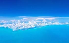 Обои море, небо, острова, облака, Багамы