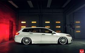 Обои Авто, Машина, Honda, Auto, посадка, Vossen, Wheels