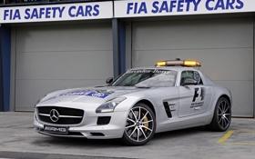 Обои машина, Mercedes-Benz, мерс, AMG, SLS, Safety Car, автомобиль безопасности