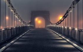 Картинка ночь, мост, Wellington Bridge