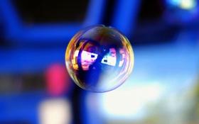 Обои блик, отражение, шар, мыло, пузырь