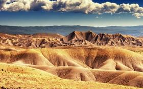 Обои облака, горы, холмы, пустыня, сша, колорадо
