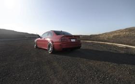 Картинка красный, bmw, бмв, купе, red, wheels, диски