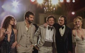 Обои кадр, Брэдли Купер, актеры, Кристиан Бэйл, Bradley Cooper, Джереми Реннер, Jennifer Lawrence