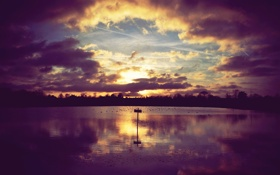Обои пейзаж, река, небо, фото, цвета, обои, берег