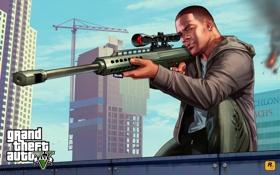 Картинка оружие, франклин, Grand Theft Auto V, Rockstar Games, gta5, лос сантос