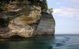 Обои скала, Море, красиво