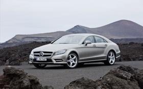 Обои камни, Mercedes, фото, авто обои, машины, CLS550, мерседесы