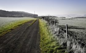 Обои дорога, обои, пейзажи, дороги, фотографии, заборы
