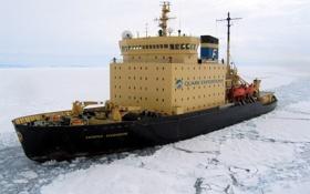Обои море, льды, антарктика, ледокол, капитан хлебников