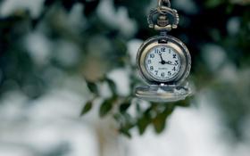 Картинка часы, циферблат, боке