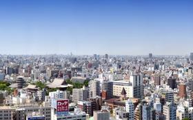 Обои здания, Япония, Токио, панорама, Tokyo, Japan