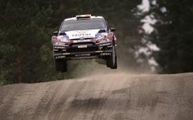Обои Гонка, Ford, В воздухе, Спорт, Rally, передок, WRC