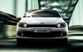 Обои машина, скорость, мост, немец, Volkswagen Scirocco