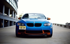 Картинка BMW, синяя, tuning, E92