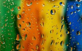 Обои вода, капли, поверхность, macro, rain drops on mirror