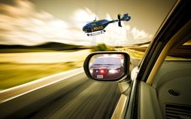 Обои гонка, погоня, вертолет, классика, need for speed 2