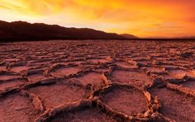 Обои пейзаж, Sunrise, Death Valley