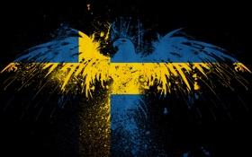 Обои стиль, текстура, орёл, текстуры, орлы, швеция, sweden