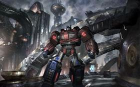 Обои роботы, фантастика, War for Cybertron, Война за Кибертрон, обои, Трансформеры, игры