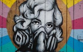 Обои London, Woman, Masked, GRAFFITI, STREET ART
