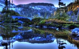 Обои США, пейзаж, HDR, Washington, фото, природа, вода