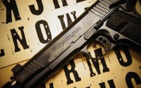 Обои пистолет, оружие, 1911, самозарядный, Remington R1