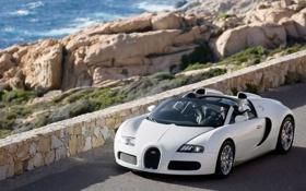 Обои дорога, горы, Bugatti_Veyron_cabrio