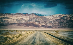 Обои природа, горы, дорога