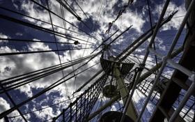 Картинка небо, парусник, мачта, канаты, photo, photographer, Greg Stevenson