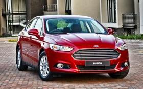 Обои Ford, форд, Fusion, 2015, Titanium, ZA-spec