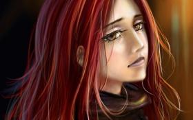 Картинка взгляд, девушка, лицо, задумчивый