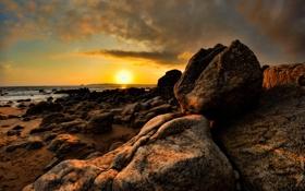 Обои камни, фото, океан, вода, море, камень, берег