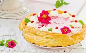 Обои торт, крем, десерт