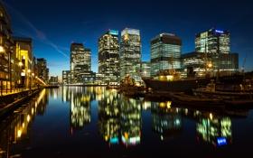 Обои свет, ночь, город, огни, река, Англия, Лондон
