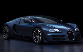 Картинка синий, черный, bugatti, спортивный, фон.
