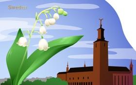 Картинка путешествия, Sweden, государство, туризм, город, цветок, Швеция