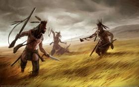 Картинка поле, индейцы, the warpath campaign, empire total war, следопыты