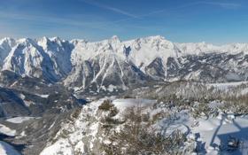 Картинка Небо, Природа, Зима, Фото, Горы, Скалы, Деревья