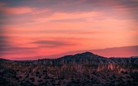 Картинка закат, пустыня, New Mexico, Totavi, Мехико