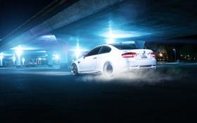 Картинка белый, мост, бмв, BMW, white, rear, E92