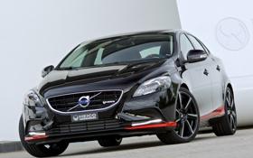 Обои машина, Volvo, передок, вольво, Pirelli, V40, Heico Sportiv
