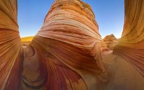 Обои песок, обрыв, скалы, пейзажи, гора, ущелье, слои
