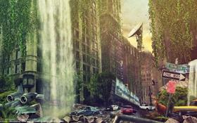 Обои олень, город, City, здание, by 445578gfx, 3210, Street by namo