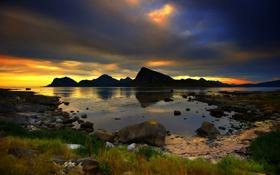 Обои море, лето, скалы, спокойствие