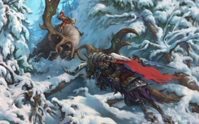 Картинка arthas, diablo, warcraft, Demon Hunter, Valla, Heroes of the Storm