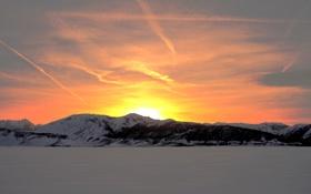 Обои зима, небо, снег, горы, Snowbird