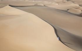 Картинка песок, природа, барханы, пустыня, человек, дюны, сахара